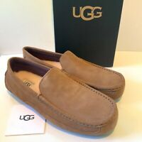 Men's UGG Loafers UK Size 10 Chestnut Brown Alder Suede Slippers