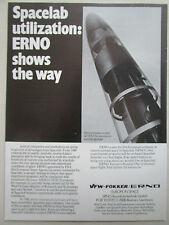 12/1977 PUB VFW FOKKER ERNO RAUMFAHRT TECHNIK ESA SPACELAB TEXTUS PAYLOAD AD