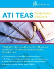 ATI TEAS Review Manual Sixth Edition Revised Book Practice Study Guide Test Prep