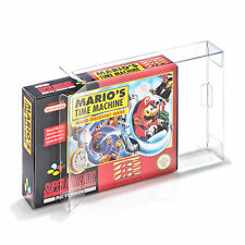 10 Klarsicht Schutzhüllen Super Nintendo [10 x 0,3MM SNES OVP] Spiele