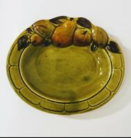 VINTAGE LOS ANGELES POTTERIES CALIFORNIA POTTERY GREEN SERVING DISH/ BOWL