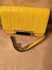 Diane Von Furstenberg Yellow/ Black Crossbody Handbag