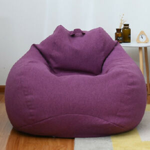Large Bean Bag Chair Sofa Cover Fabric Cloth Couch Lazy Lounger For Kids Adults