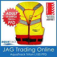 AQUATRACK TRITON ADULT X-LARGE 70KG+ L100 PFD LIFE JACKET - Foam Lifejacket Vest