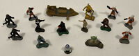 Vintage Star Wars Toy Micro Machines Figures Lot Darth Vader Yoda Chewbacca R2D2