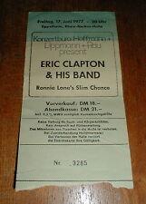 ERIC CLAPTON 1977 Eppelheim, Germany CONCERT TICKET STUB
