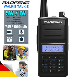 Baofeng 918UV Tri-Band VHF/UHF 128 Channels VOX Two Way Ham Radio with Earpiece