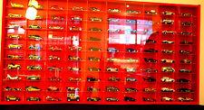 Model Car Display 1:64 & 1:72, Hot Wheels, Matchbox, Biante, Tomica (RED )
