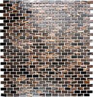 Mosaik Verbund mix Goldstar braun Fliesenspiegel Küche Art: Brick-120 | 10Matten