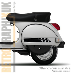 Vespa Side Panel & Toolbox graphics stickers kit   Scooter decals fits PX LML T5