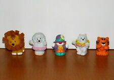 Lot Little People Circus Figures Clown, Touch & Feel Lion, Tiger, Dogs Carnival