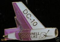 DC-10 DOUGLAS TAIL  HAT LAPEL PIN LOGO COMMERCIAL AIRPLANE LONG BEACH GIFT WOW