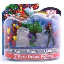"Marvel Avengers - Iron Man, Hulk & Black Widow - 3 Pack Deluxe 4"" Figure Pack"