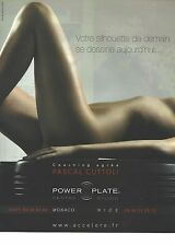 PUBLICITE  ADVERTISING 2008  POWER PLATE
