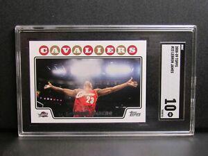 "2008-09 Topps #23 LeBron James ""Chalk Toss"" Card SGC 10 GEM MINT VE637"