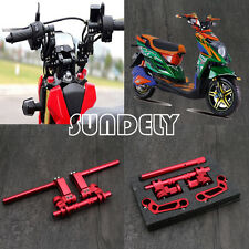 """FAST Adjustable Motorcycle & Scooter Handle Bar Bars Kit Red 22mm 7/8"""" 125cc"""