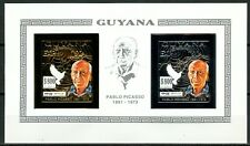 GUYANA 1992 Pablo PICASSO EXPO 92 Seville Mi 3987 B + 3988 B Gold/Silver Imperf