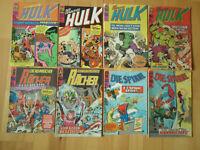 Die Spinne, Hulk, die Rächer - Konvolut 8 Marvel-Comichefte Williams