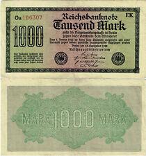 Reichsbanknote 1000 Mark 1922 Berlin Reichsbank Ro.75i P-76c SEHR SELTEN