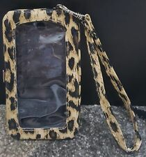 N) Leopard Print iPhone 5 Cell Phone Case Wristlet Credit Card License ID Wallet