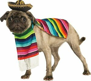 Rubie's Pet Costume Mexican Serape Small