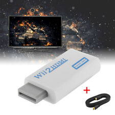 Wii to HDMI Converter Wii2HDMI Full HD 3.5mm Audio Output with HDMI Cable AC1129