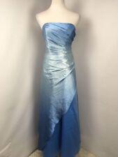 Vtg 80s Jump Apparel Co. Cinderella Sky Blue Strapless Dress PROM 6 Evening EUC