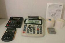 3 Calculators Canon P23-Dh Mini Desktop Color Print Lifelong Jot Scientific