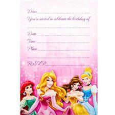 Party Supplies Girls Birthday Decorations Disney Princess Invitations Pk 8