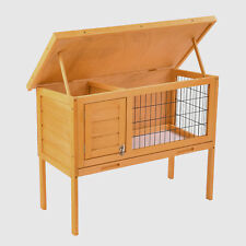"Wooden 36"" Rabbit Bunny Hutch Chicken Coop Hen House Animal House Poultry Cage"