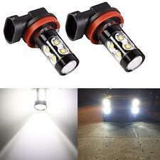 2x H11 H8 50W CREE 6000K White LED Projector High Power Fog Driving Lights Bulb