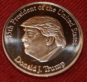New US Medal 1 OZ. 31,1g Cooper from 45. President Donald Trump ; UNC.- (4)