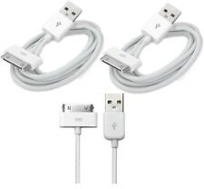 2 x USB Sync Data Charging Charger Cable Cord fits Apple iPhone 4 4S ipod 4G 4th