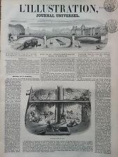 "L' ILLUSTRATION 1850 N 404 EXPLOSION A BORD DU "" VALMY "", LE 8 NOVEMBRE 1850"