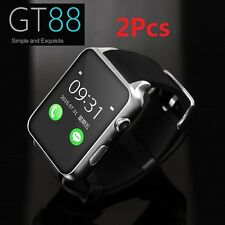 2Pcs GT88 Waterproof GSM NFC Heart Rate Bluetooth Smart Watch GPRS For Android