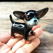 New The Dog Chihuahua Ceramic Figurine Collectibles Handmade Dollhouse Miniature