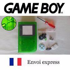 Coque GAME BOY fat original transparent vert NEUF + triwing - étui shell case