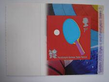 GB 2010 Jeux Paralympiques tennis de table autocollante timbre neuf sans charnière