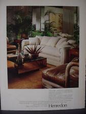 1979 Henredon Folio 500 + Scene One Furniture Home Décor Vintage Print Ad 12923