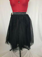 Lindy Bop Edie Black Rockabilly Pin up Gothic Princess Tulle Puff Skirt Size 10