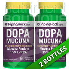 DOPA Mucuna Pruriens 350 mg Standarized 2X60 or 1X120 C (Velvet Bean) by Piping