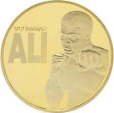 Muhammad Ali Cassias Clay Boxer Collectors Souvenir Gold Plated Coin Token