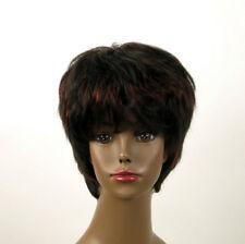perruque femme afro 100% cheveux naturel méchée noir/rouge SHARONA 03/1b410