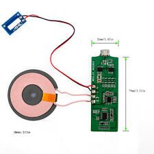 DC 5V 2A Qi Wireless Charger PCBA Circuit Board Coil Charging Micro USB Port DIY