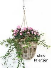 Ambiente Rattan Blumenampel für Übertopf Pflanzenkorb mit Kunststoffinlett neu