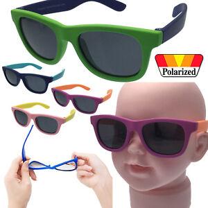 Rubber Flexible Polarized Sunglasses Plastic Boys - Baby Children Child Age 0-2+