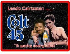 Big Colt 45 Beer Billy Dee Williams & Lando C. Refrigerator / Tool Box Magnet