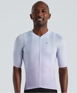 Specialized Men's SL Air FadeShort Sleeve Cycling Jersey White UV Lilac - Small