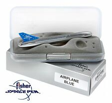 Fisher Space Pen #400AL-Blue / Chrome Bullet Pen with Blue Airplane Tail
