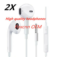 2-PCS Foxcnn New Headphones Earphones With Remote & Mic For Apple iPhone 4 5S 6s